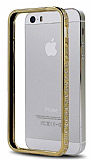 Shengo iPhone 5 / 5S Ta�l� Metal Bumper �er�eve Gold K�l�f
