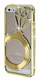 Shengo iPhone 5 / 5S Tekta� Ta�l� Metal Gold K�l�f