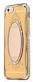 Shengo iPhone SE / 5 / 5S Aynalı Gold Silikon Kılıf