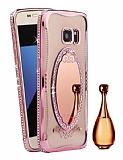Shengo Samsung Galaxy S7 Edge Aynalı Rose Gold Silikon Kılıf