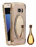 Shengo Samsung Galaxy S7 Edge Aynalı Gold Silikon Kılıf