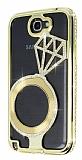 Shengo Samsung N7100 Galaxy Note 2 Tekta� Ta�l� Metal Gold K�l�f