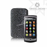 Siyah Swarovski Ta�l� Samsung S8530 Wave 2 K�l�f
