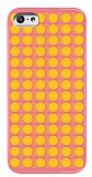 Smiley iPhone 5 / 5S Coral Pembe Rubber K�l�f