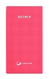 Sony CP-V5A Orjinal 5000 mAh Powerbank Pembe Yedek Batarya