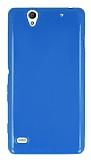 Sony Xperia C4 Mavi Silikon K�l�f