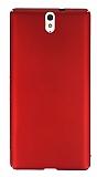 Sony Xperia C5 Ultra Tam Kenar Koruma Kırmızı Rubber Kılıf