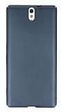 Sony Xperia C5 Ultra Tam Kenar Koruma Füme Rubber Kılıf