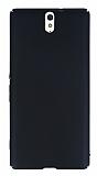 Sony Xperia C5 Ultra Tam Kenar Koruma Siyah Rubber Kılıf
