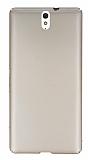 Sony Xperia C5 Ultra Tam Kenar Koruma Gold Rubber Kılıf