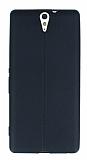 Sony Xperia C5 Ultra Deri Desenli Ultra İnce Siyah Silikon Kılıf