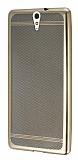 Sony Xperia C5 Ultra Specked Gold Silikon Kılıf