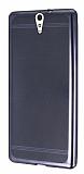 Sony Xperia C5 Ultra Specked Dark Silver Silikon Kılıf