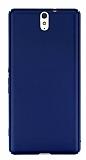 Sony Xperia C5 Ultra Tam Kenar Koruma Lacivert Rubber Kılıf