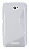 Sony Xperia E4 Desenli Şeffaf Silikon Kılıf