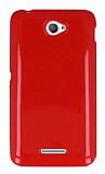 Sony Xperia E4 K�rm�z� Silikon K�l�f