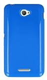 Sony Xperia E4 Mavi Silikon K�l�f