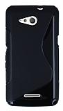 Sony Xperia E4g Desenli Siyah Silikon Kılıf
