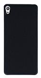 Sony Xperia E5 Kumaş Görünümlü Siyah Silikon Kılıf