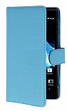 Sony Xperia ion LT28i Yan C�zdanl� Mavi K�l�f