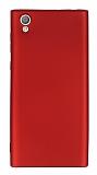 Sony Xperia L1 Mat Kırmızı Silikon Kılıf