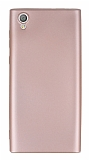 Sony Xperia L1 Mat Rose Gold Silikon Kılıf