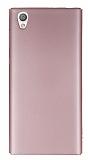 Sony Xperia L1 Tam Kenar Koruma Rose Gold Rubber Kılıf