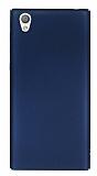 Sony Xperia L1 Tam Kenar Koruma Lacivert Rubber Kılıf