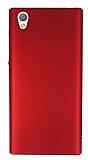 Sony Xperia L1 Tam Kenar Koruma Kırmızı Rubber Kılıf