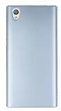 Sony Xperia L1 Tam Kenar Koruma Silver Rubber Kılıf