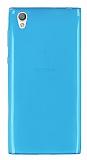 Sony Xperia L1 Ultra İnce Şeffaf Mavi Silikon Kılıf