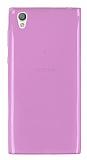 Sony Xperia L1 Ultra İnce Şeffaf Pembe Silikon Kılıf