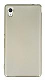 Sony Xperia M4 Aqua Mat Gold Silikon Kılıf