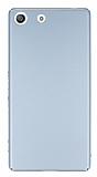 Sony Xperia M5 Tam Kenar Koruma Silver Rubber Kılıf