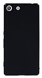 Sony Xperia M5 Tam Kenar Koruma Siyah Rubber Kılıf