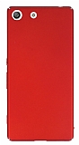 Sony Xperia M5 Tam Kenar Koruma Kırmızı Rubber Kılıf