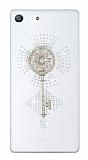 Sony Xperia M5 Anahtar Taşlı Şeffaf Rubber Kılıf