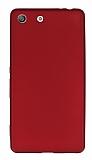 Sony Xperia M5 Mat Kırmızı Silikon Kılıf