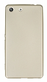 Sony Xperia M5 Mat Gold Silikon Kılıf