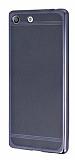 Sony Xperia M5 Specked Dark Silver Silikon Kılıf
