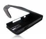 Sony Xperia S Kapakl� Siyah Deri K�l�f