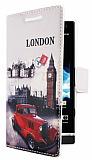 Sony Xperia S London C�zdanl� Yan Kapakl� K�l�f