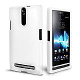 Sony Xperia S Mat Beyaz Silikon K�l�f
