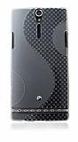 Sony Xperia S �effaf Desenli Silikon K�l�f