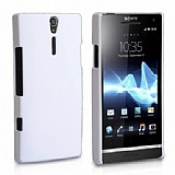Sony Xperia S Beyaz Sert Rubber Kılıf