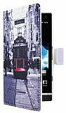 Sony Xperia S Taksim C�zdanl� Yan Kapakl� K�l�f