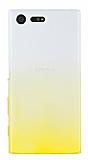 Sony Xperia X Compact Geçişli Sarı Silikon Kılıf