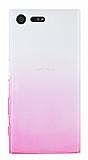 Sony Xperia X Compact Geçişli Pembe Silikon Kılıf