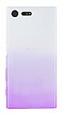 Sony Xperia X Compact Geçişli Mor Silikon Kılıf