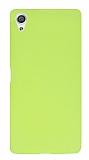 Sony Xperia X Mat Neon Sarı Silikon Kılıf